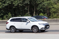 Mitsubishi Outlander on the road Royalty Free Stock Image