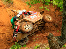 Mitsubishi paid. Off-road race - Evros Trophy 2011 Greece Royalty Free Stock Photo