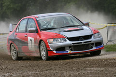 Mitsubishi rally car Stock Image