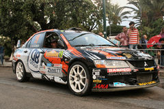 Mitsubishi rally car Royalty Free Stock Images