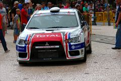 Mitsubishi Rally car Stock Photography