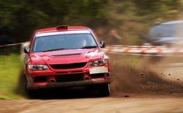 Mitsubishi rally car. stock images