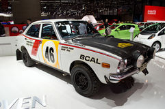 Mitsubishi rally origins Geneva 2014 Royalty Free Stock Images