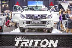 Mitsubishi samochód przy Tajlandia zawody międzynarodowi silnika expo 2016 Zdjęcia Royalty Free