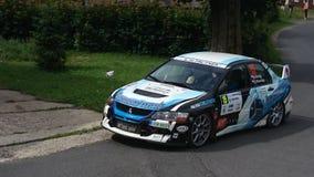 Mitsubishi su rallye Immagini Stock