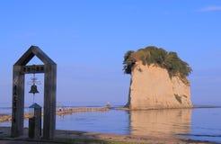 Mitsukejima ölandskap Ishikawa Japan arkivfoto