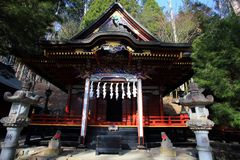 Mitsumine shrine in Saitama, Japan. Historical shinto shrine built in 745 royalty free stock photo
