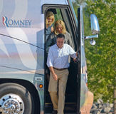 Mitt and Ann Romney with bus Royalty Free Stock Photography