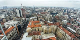 Mitt av Belgrade royaltyfri fotografi