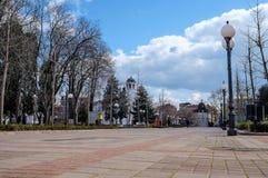 Mitt av den bulgariska staden Royaltyfria Bilder