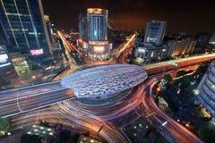 Mitt av det Yangpu området i Shanghai Arkivbilder