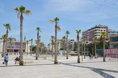 Mitt av Durres, Albanien Royaltyfria Bilder