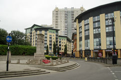 Mitt av Edmonton, norr London royaltyfria bilder