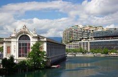 Mitt av Geneva Arkivfoton