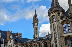 Mitt av Ghent i Belgien royaltyfria foton