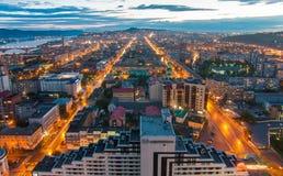 mitt av Krasnoyarsk Fotografering för Bildbyråer