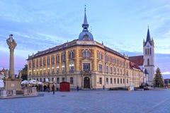 Mitt av lilla staden Keszthely i Ungern, 02 01 2018 Royaltyfri Bild