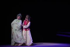 """Mitt av natten som rymma för att gifta sig-Kunqu västra Chamber†för opera""""the  Royaltyfri Fotografi"""