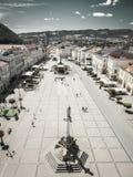 Mitt av staden Banska Bystrica, Slovakien arkivfoton