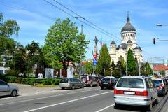 Mitt av staden Cluj-Napoca Fotografering för Bildbyråer