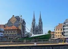 Mitt av staden Ostend Arkivfoto