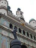 Mitt av staden Poznan Arkivbild