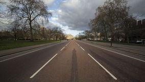 Mitt av vägen arkivfoto