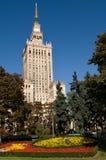 Mitt av Warszawa - slott av kultur och vetenskap Fotografering för Bildbyråer