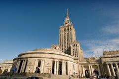 Mitt av Warszawa - slott av kultur och vetenskap Royaltyfri Foto