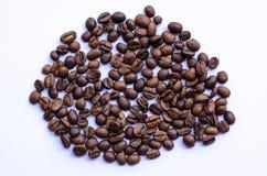 Mitt bakade kaffebönor royaltyfria foton
