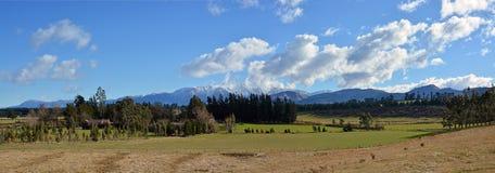 Mitt- Canterbury lantligt landskap i vinter från Windwhistle krig M Arkivfoton