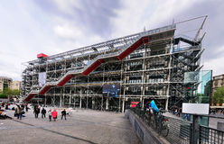 mitt de paris pompidou Royaltyfri Bild