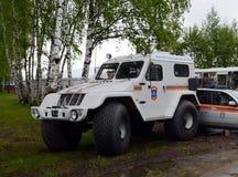 mitt EMERCOM för räddningsaktion för Av-väg medel TRAKOL Noginsk av Ryssland royaltyfria foton
