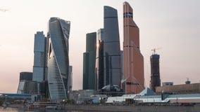Mitt för affär för MoskvastadsMoskva internationell, Ryssland Timelapse arkivfilmer