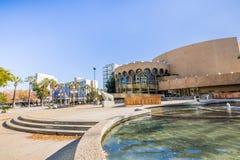 Mitt för föreställningskonstmötesplatsen i i stadens centrum San Jose som är silic royaltyfria foton