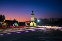 Mitt för klockatorn, Lampang, Thailand Royaltyfri Foto