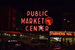 Mitt för offentlig marknad, Seattle, Washington Arkivbild