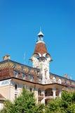 Mitt för turist- information i den Ouchy byn i Lausanne Arkivbilder