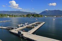 Mitt för Vancouver hamnflyg fotografering för bildbyråer