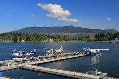 Mitt för Vancouver hamnflyg arkivbilder
