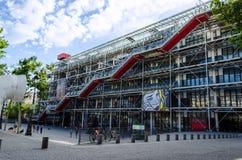 Mitt Georges Pompidou - Paris, Frankrike Royaltyfria Foton