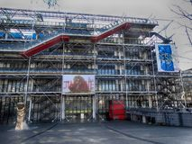 Mitt Georges Pompidou Paris March 2018 arkivbilder