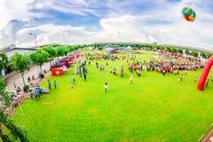 Mitt--höst aktiviteter av ungdomar i Vietnam Arkivfoto