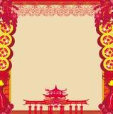 Mitt--höst festival för det kinesiska nya året - ram royaltyfri illustrationer