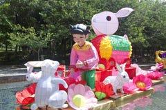 Mitt--Höst lyktakarneval i Hong Kong Royaltyfria Bilder