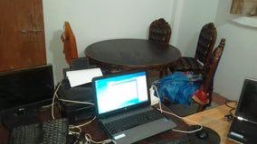 mitt kontor Arkivfoton