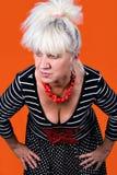 mitt- kvinna för ålder Arkivbild