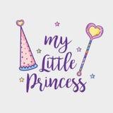 Mitt lilla prinsessakort Arkivfoto