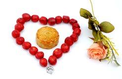 mitt- mooncake för höstfestival Royaltyfri Fotografi
