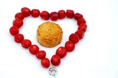 mitt- mooncake för höstfestival Royaltyfria Foton